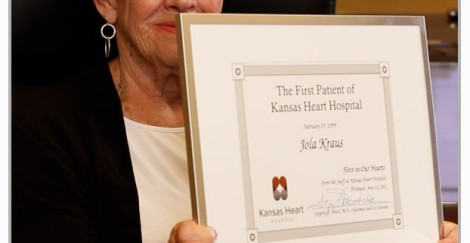 Meet Jola Kraus: Kansas Heart Hospital's first patient